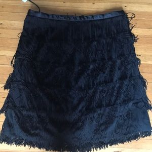 Gap fringe midi skirt